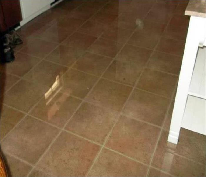 water covering flooring after leak