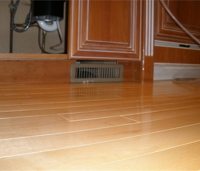 Hardwood Floor Drying After