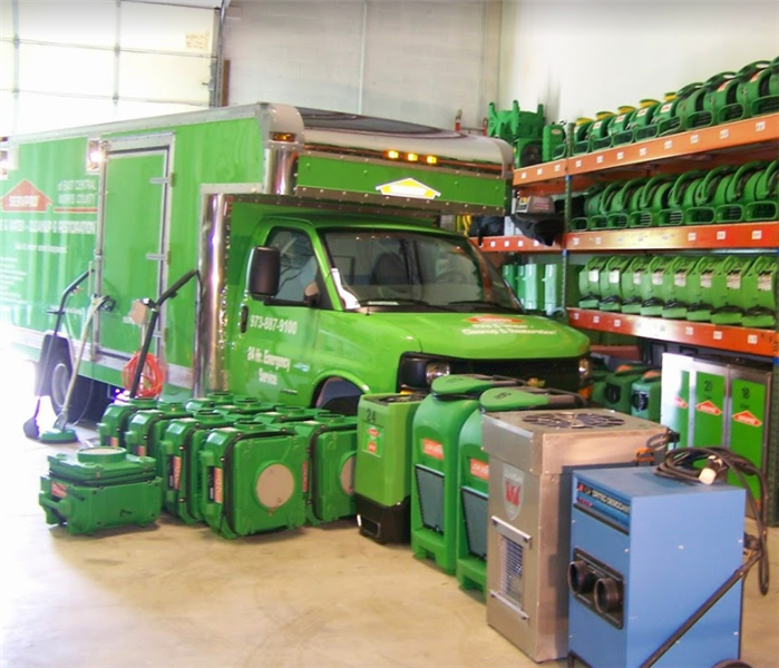 SERVPRO restoration equipment in SERVPRO storage facility