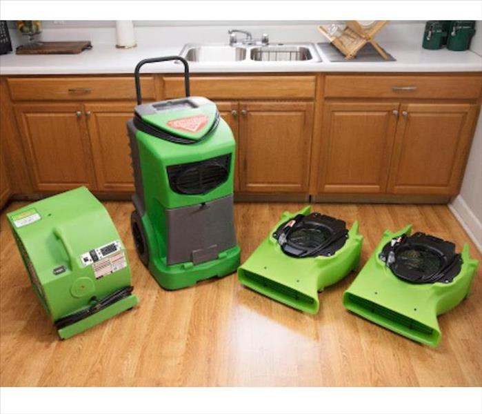 SERVPRO Equipment in kitchen